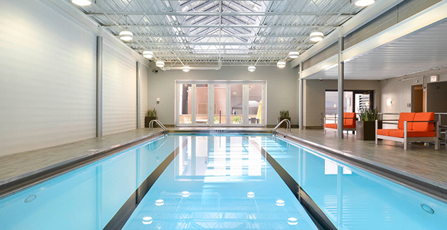 indoor pool at 420 E Ohio apartment building in Streeterville Chicago