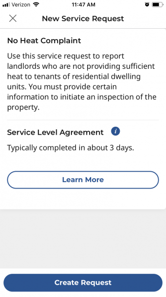 apartment renters in Chicago can log a complaint for no heat in their apartment with the new CHI 311 app