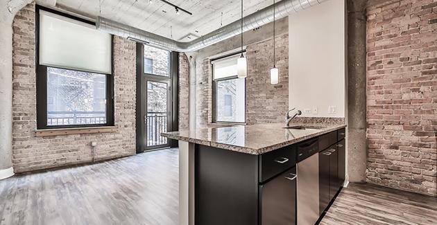 vintage loft apartment for rent in Circa 922 in Fulton Market, Chicago, IL