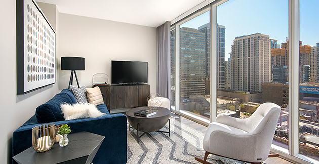 Chicago apartments at Eleven40 South Loop give renters a wide choice of shopping on South Wabash Street