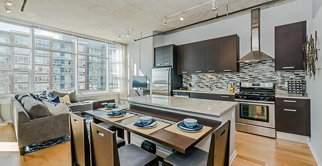 interior of apartment for rent in The Lofts at Roosevelt Collection, South Loop, Chicago