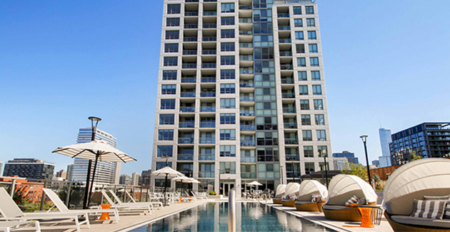 pool deck at The Hudson in River North
