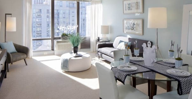 interior of apartment for rent in Lakeshore East, Chicago