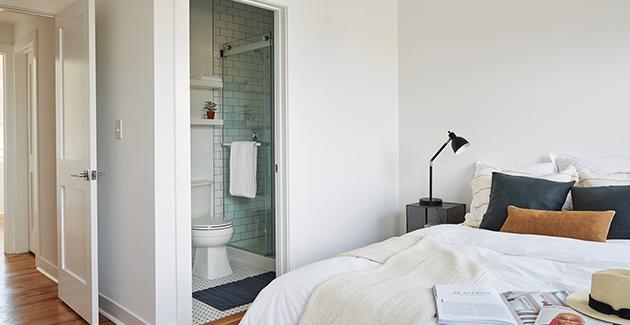 studio apartment bedroom in Pilsen apartments for rent at Common™ Racine in Chicago, IL