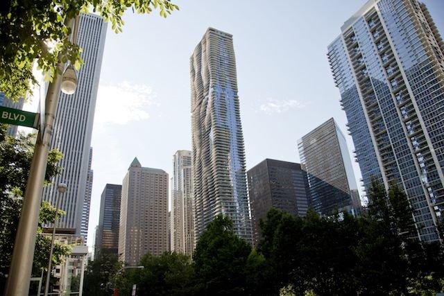 Aqua Chicago Apartments in Lakeshore East neighborhood