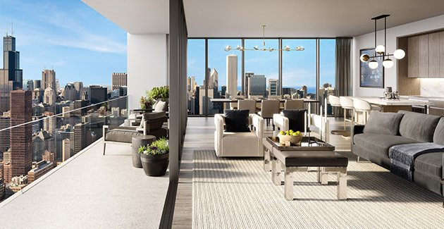 skyline residence at NEMA Chicago in the South Loop