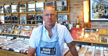 Rick Wojcik owner of Dusty Groove record shop in Chicago