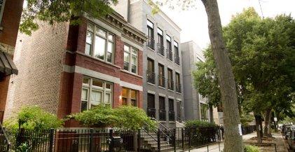 apartment buildings in East Village neighborhood of Chicago