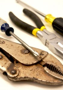 a set of tools used to repair the apartment