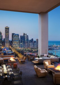skyline terrace at NEMA Chicago apartments in South Loop