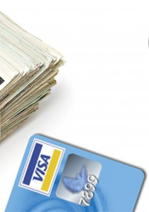 cash, credit card and mobile phone paymet app used to pay rent for a Chicago apartment