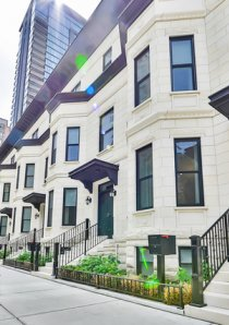exterior of townhouses for rent in Chicago