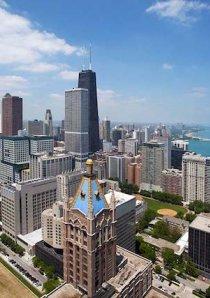 view of skyscrapers in Chicago's Streeterville neighborhood