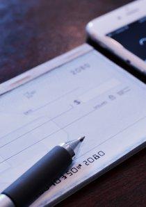 a checkbook belonging to an apartment renter