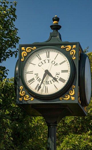 Clock city trees decorative