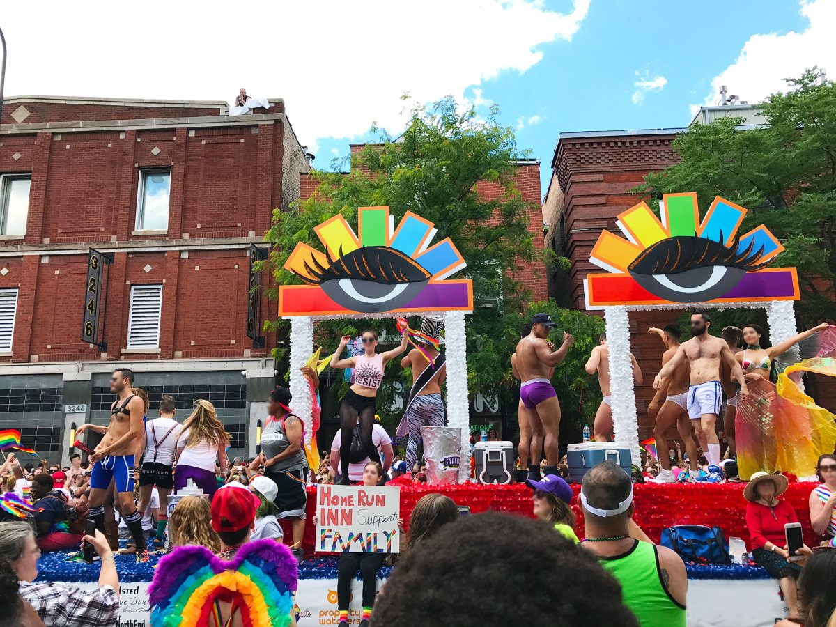float in Chicago Boystown PRIDE parade