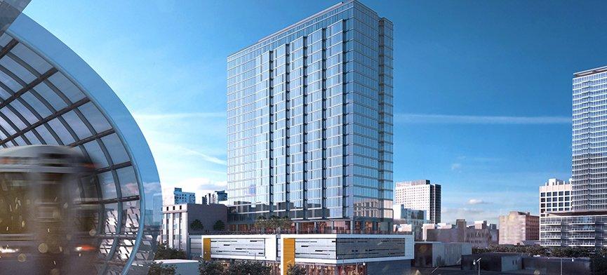 rendering of Aspire Apartments in the South Loop neighborhood of Chicago