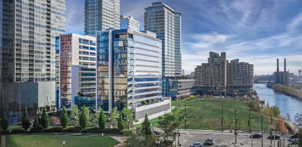 rendering of South Loop apartment building Alta at Grand Central