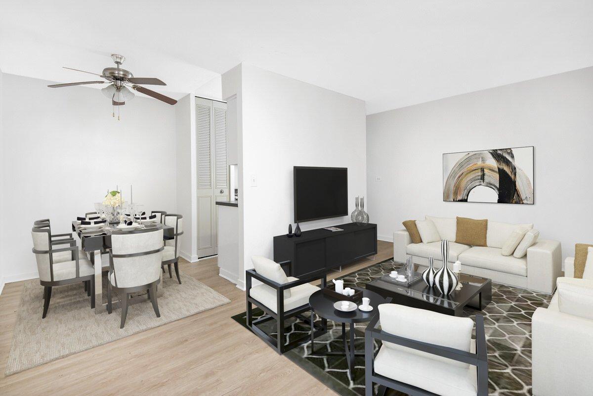 2630 N Hampden, One Bedroom Living Room