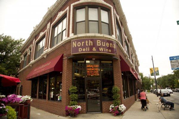 North Buena Deli and Wine entrance in Buena Park Chicago